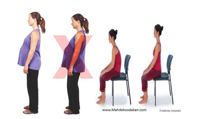 ایستادن و نشستن در زمان بارداری 1 738x415 - اصول ایستادن و نشستن در زمان بارداری همراه با فیلم