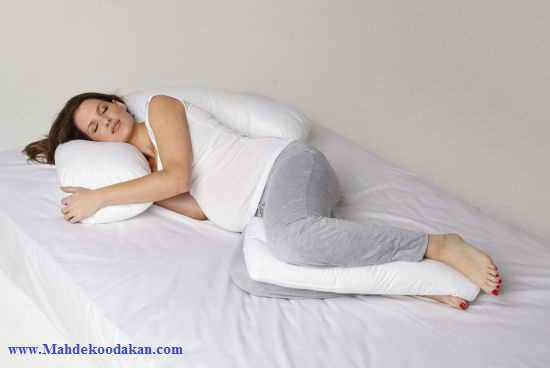 در زمان بارداری 1 - روش صحیح خوابیدن در زمان بارداری همراه با تصاویر