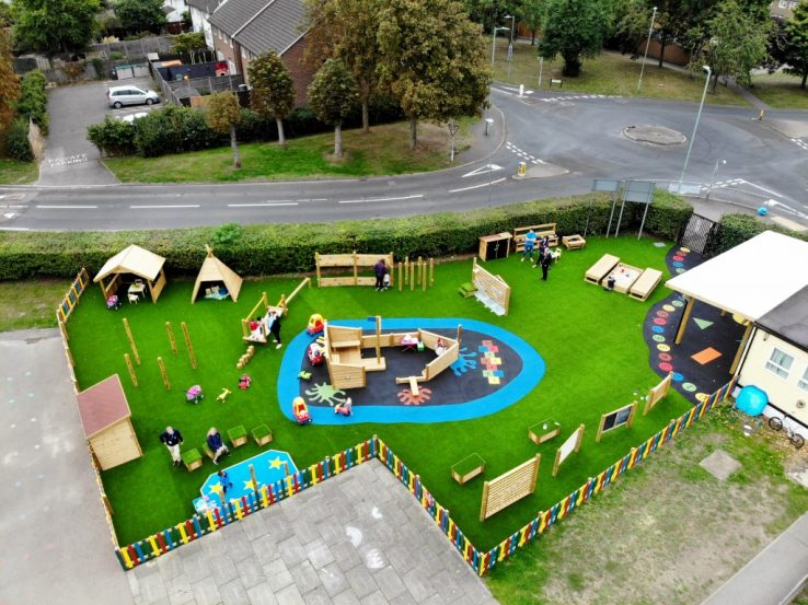 اصول طراحی زمین بازی در فضای باز مهد کودک